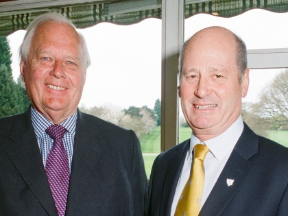 Patron Lord Cobham with Pedmore Sporting Club Chairman Jon Bellfield